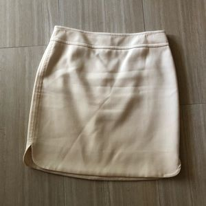 Ann Taylor Cream Wool Blend Skirt W rounded slit